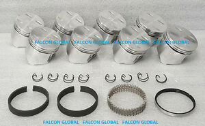 Sealed Power Mopar Dodge 318 5 2 Cast Flat Top Pistons rings Kit 1967 84 60