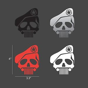 Jeep Skull Special Ops Custom Decals For Wrangler Cherokee Liberty Compass