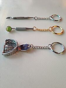 3pcs Assorted Keychain Dentist Dental Lab Promo Great Gift