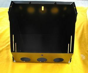 Black Drop Out Battery Box Tray Hot Rod Race Rat