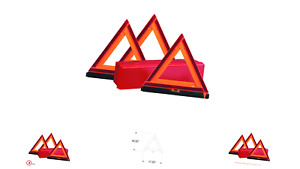 Deflecto Early Warning Road Safety Triangle Kit Reflective 3 pack 73 0711 00
