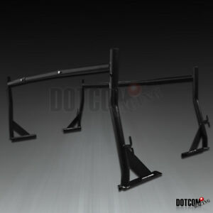 Adjustable Black Heavy Duty 500lb Construction Rack Truck Ladder Racks Pair