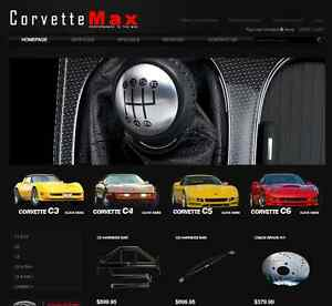 Corvettemax com Corvette Domain Name And Website With Shopping Cart