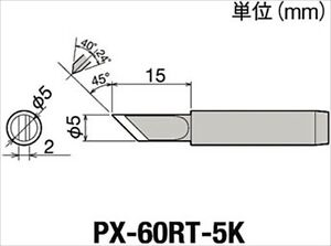 1 Set Of 10 Px 60rt 5k Lead free Soldering Tips Replace 10pcs Goot Japan