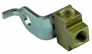 3 16 Inverted Flare Brake Line Brass Tee 3 8 24 All Sides With Bracket Te06 1pc