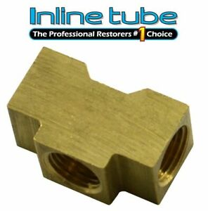 1 4 Inverted Flare Brake Line Brass Tee 7 16 24 All Sides Te02 1pc