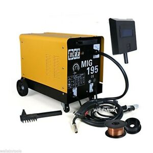 220v 190 Amp Dual Mig 195 Flux Core Auto Wire Welding Machine Gas No Gas Welder
