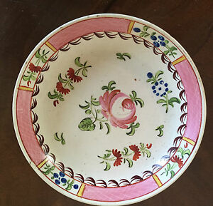 Antique English Creamware Pearlware Saucer King S Rose Plate 18th 19th C 1800