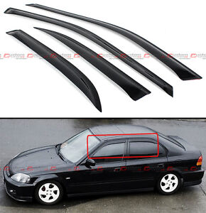 For 1996 2000 Honda Civic 4 Dr Sedan Jdm Smoke Tinted Window Visor Vent Shade