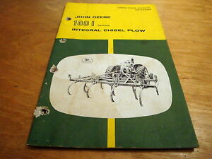 John Deere 100i Integral Chisel Plow Operator s Owner s Manual Jd Oem