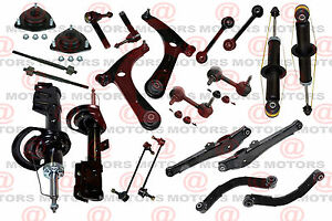 Front Rear Suspension Chassis Kit Control Arms Ball Joint Shocks Dodge Caliber