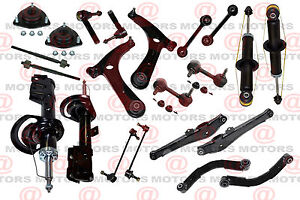 Front Rear Suspension Chassis Kit Control Arm Ball Joint Shocks Dodge Caliber