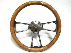 1971 Chevy C10 C20 Pick Up Trucks Alder Wood billet Steering Wheel