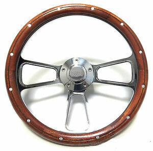 1969 73 Chevelle Ss 1969 Up El Camino Wood Billet Steering Wheel Full Kit