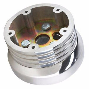 Polished Billet Steering Wheel Adapter Five Hole For 1974 94 Chevy