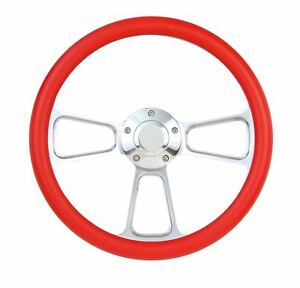Red Steering Wheel For Flaming River Ididit Steering Column 14
