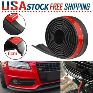2 5m 98 In Car Front Bumper Lip Splitter Body Spoiler Skirt Protector Universal