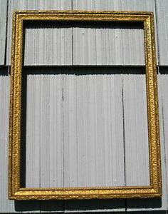 Antique Eastlake Victorian Bronze Gold Art Crafts Picture Frame 11 3 4 X 15 3 4
