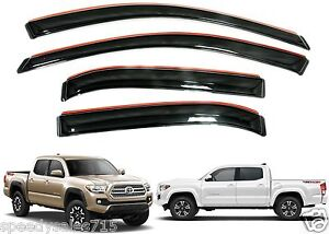 Avs 194768 In channel Vent Visors For 2016 2018 Toyota Tacoma Crew Cab New Usa