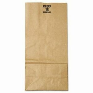 16 Heavy duty Brown Kraft Paper Bags 500 Per Bundle bag Gx16