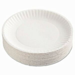 Gold Label 9 Coated White Paper Plates 1 000 Plates ajm Cp9goewh