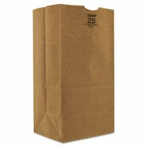 25 Shorty Heavy duty Brown Kraft Paper Bags 500 Per Bundle bag Gx2560s
