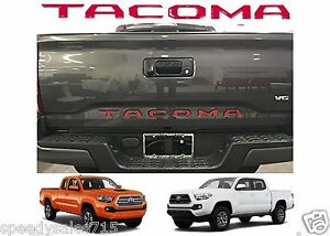 Red Tailgate Letters Inserts For 2016 2017 Toyota Tacoma New Free Shipping Usa