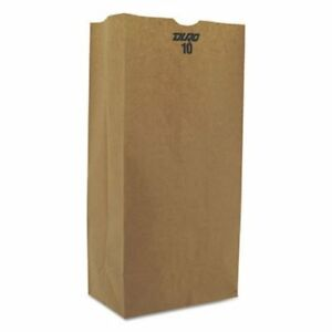 10 Heavy duty Brown Kraft Paper Bags 500 Per Bundle bag Gx10 500