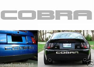 Chrome Mirror Rear Bumper Letter Inserts For 2003 2004 Ford Mustang Cobra New