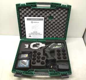 Greenlee Esg50l Gator 18v Battery Cable wire Cutter New Battery charger W Case