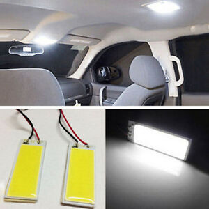 2x 12v Car Suv White 36 Cob Led Xenon Hid Dome Lights Bulb Interior Panel Light