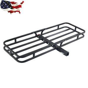 500lbs Steel Cargo Carrier Luggage Basket 2 Receiver Hitch Hauler New