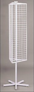 Mini Grid Gridwall Panel Spinning Floor Display Retail Store Fixture White New