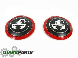 2012 2017 Fiat 5oo Abarth Scorpion Center Caps Set Of 2 Oem Mopar Genuine New