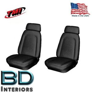 1969 Camaro Coupe Front Bucket Rear Bench Seat Upholstery In Stock By Tmi