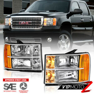 2007 2013 Gmc Sierra 1500 2500 3500 factory Style Headlights Lamps Left right