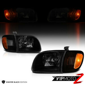 2000 2004 Toyota Tundra sinister Black Headlights Signal Lamps Left Right Set
