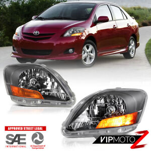 Left Right For 07 11 Toyota Yaris Sedan Factory Style Headlight Replacement Lamp