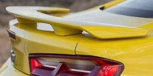 2016 2017 2018 Chevy Camaro 3 post Factory Style Spoiler Unpainted Gray Abs