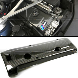 Fit 01 02 03 04 05 06 E46 M3 Real Carbon Fiber Engine Cover Glossy Gel Finish