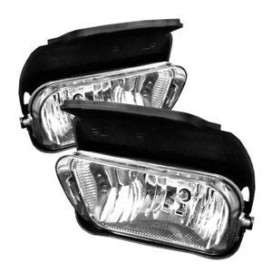 2003 2006 Chevy Silverado Avalanche Fog Lights Bumper Lamps Replacement Pair Set