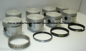 Plymouth Dodge Chrysler 383 Cast Pistons 8 Cast Rings 030 Silvolite 1960 71