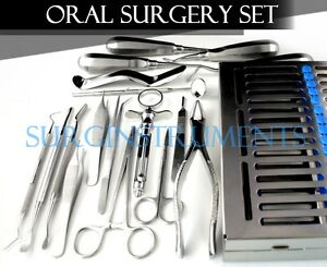 18 Pcs Premium Basic Oral Dental Surgery Surgical Instruments Set Kit
