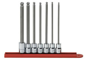 Gearwrench 7 Pc 3 8 Dr Sae Long Ball Hex Bit Socket Set 80574