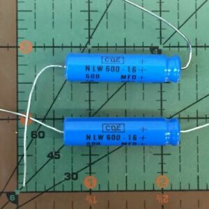 Cornell Dubilier Axial Capacitor 600uf 16v Nlw600 16 Industrial 105 c Cde 10pcs