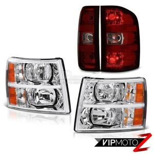 07 13 Chevy Silverado 2500hd Crystal Clear Headlights Taillamps Factory Style