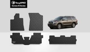 Toughpro Heavy Duty Custom Floor Mats 2008 2019 Toyota Sequoia 3rd Row