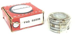 Nib Consolidated Fag 52205 Thrust Ball Bearings