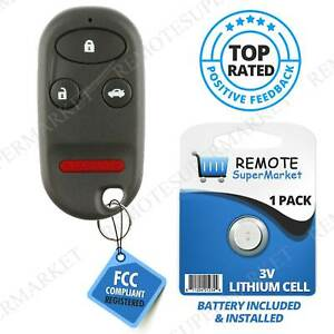 Replacement For Acura 1999 2003 Tl Honda 1998 2002 Accord Remote Car Key Fob