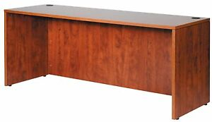 Boss Office Products Executive Desk Shell N10 Finish Cherry Size 36 X 71